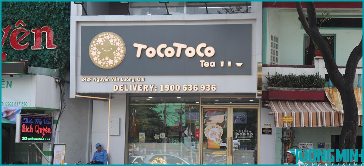 Biển quảng cáo Alu tocotoco